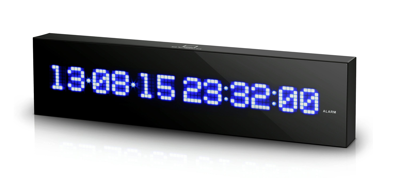 LED Calendar Wall Clock - LED Calendar Wall Clock - Gingko