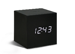 Gravity Cube Click Clock - Black