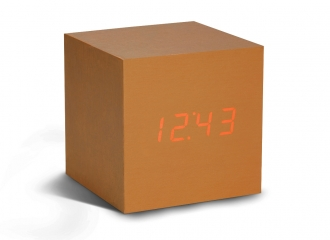 Cube Copper Click Clock