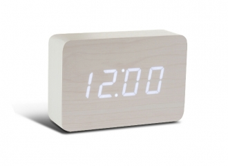 Brick White Click Clock / White LED