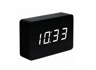 Brick Black Click Clock