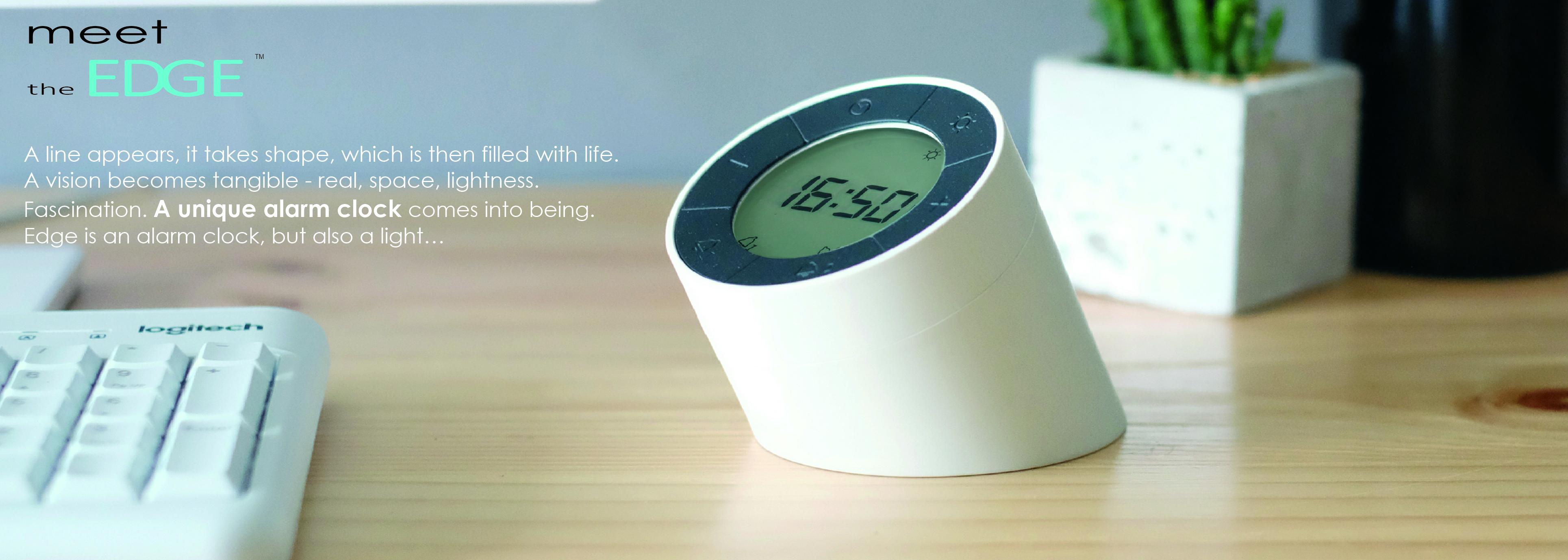 Gk01b6 Click Gingko Aluminium Wanduhr Clock LedBlau JKlF1c