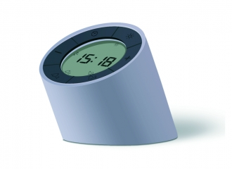 Grey Edge Light Alarm Clock