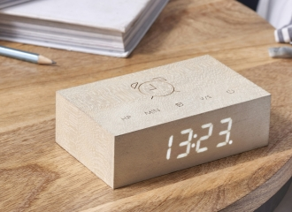 Flip Cilck Clock - White Maple