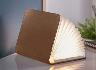 Large Brown Leather Smart Book Light